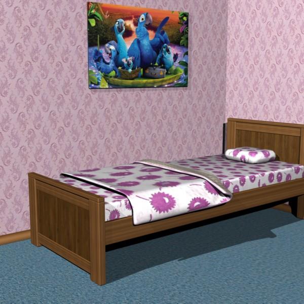 Кровать односпальна ВУЛЬФ